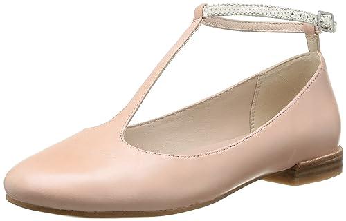 Womens Festival Glee Ballet Flats, Pink (Dusty Pink Lea), 4 UK Clarks