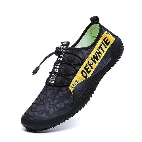 BAOLESEM Zapatos de Agua Hombre Zapatillas de Playa Piscina Escarpines Calzado para Deporte Acuáticos Natación Yoga Gimnasio: Amazon.es: Zapatos y ...
