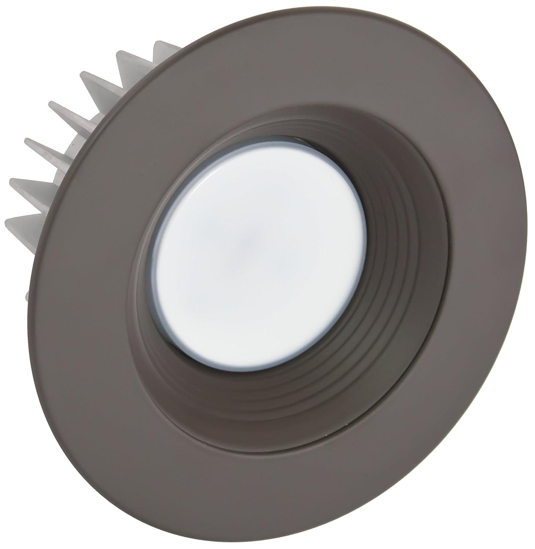 American Lighting X6-WHB-AL-X56 6-Inch Downlight Trim Kit for X56 Series White Baffle Satin Aluminum Trim