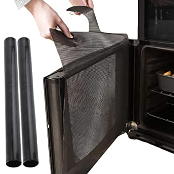 Spares2go - Protector de salpicaduras universal para puerta de horno 1 x Splash Guard + 2