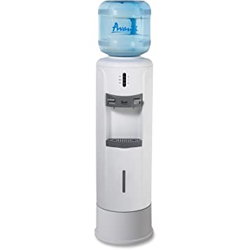Hot and Cold Water Dispenser, 12 3/4dia. x 39h, Ivory White