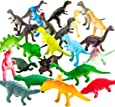 ValeforToy 72 Piece Mini Dinosaur Toy Set for Dino Party Cupcake Toppers - Assorted Vinyl Plastic Figure