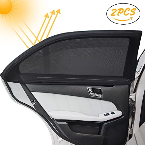 INFREECS Car Window Sun Shade Cover (2 Pack), Car Side Window Sunshades,UV Rays Blocker and Privacy Shield Protection for Baby, Children, Kids and Pets