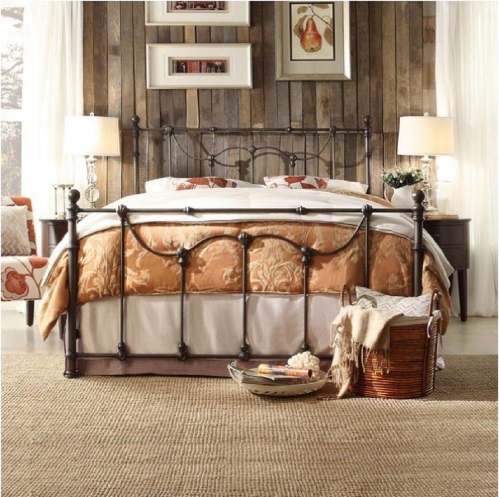 Bellwood Dark Bronze Victorian Iron Metal Bed - Twin Size