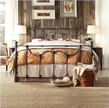 bellwood dark bronze victorian iron metal bed queen size by inspire q - Metal Bed Frames King