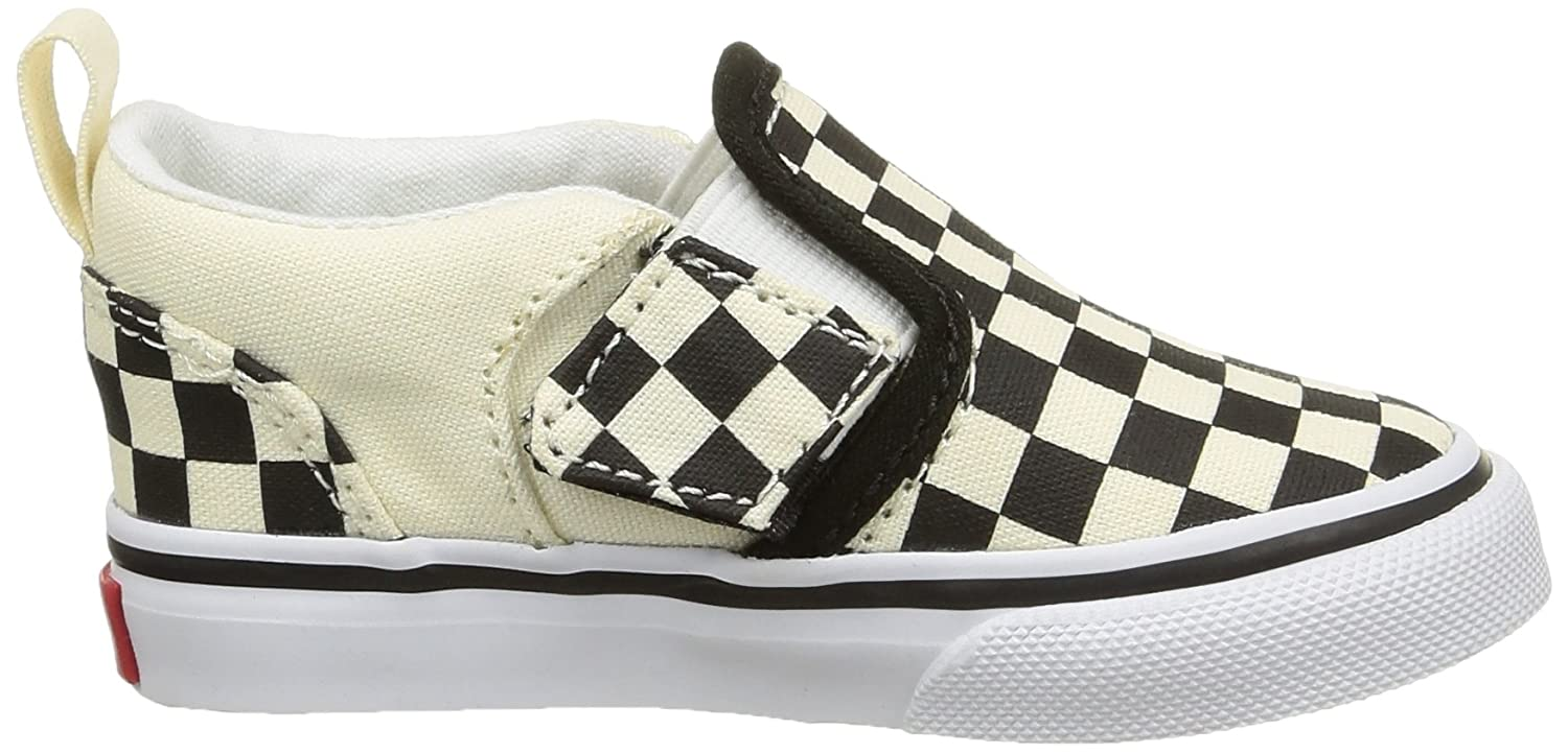 ddc5d737ab9 Amazon.com  Vans Asher Child Sneakers - Checker Black Natural  Clothing