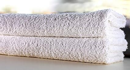 Craftedinbd basics u2013 set di 2 asciugamani da bagno bianco 70 x 140