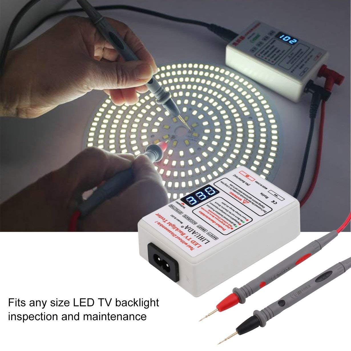 GJ2C 0-300V LCD TV Testeur de r/étro/éclairage Portable /Écran R/étro-/éclairage Testeur LED Multiduntional Lampe Perles Conseil D/étecteur Blanc