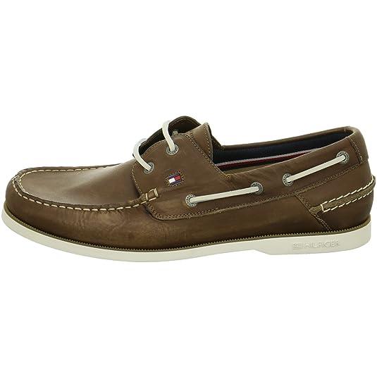 Tommy Hilfiger FM56820601-211 Knot - Zapatillas para hombre, color Marrón, talla 42 UE