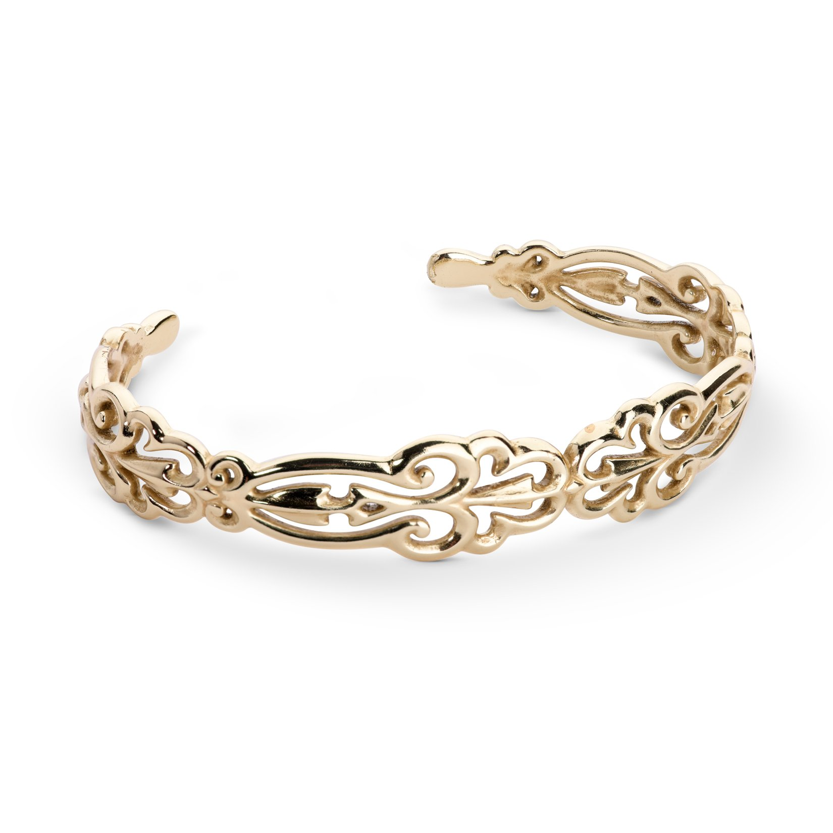 Carolyn Pollack Sterling Silver & Yellow Gold Plated Filigree Cuff Bracelet