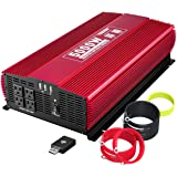 KINVERCH 5000 Watts Power Inverter 12V to 110V, Modified Sine Wave Car Inverter, Dual 110 Volt AC Outlets, Hardwire Kit…