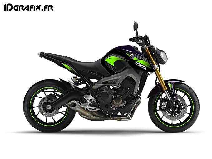 Racing kit decorazione verde idgrafix yamaha mt oui amazon
