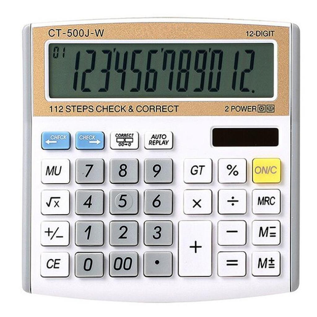ZHAS Solar Calculator, 12-digit Digital Electronic Calculator, Desktop Calculator for Office/School/Store