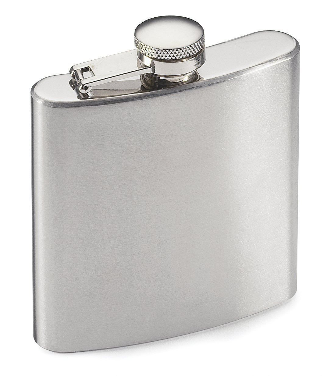 SHOP OF ACCESSORIES® - 8 oz Stainless Steel Hip Whiskey Flask