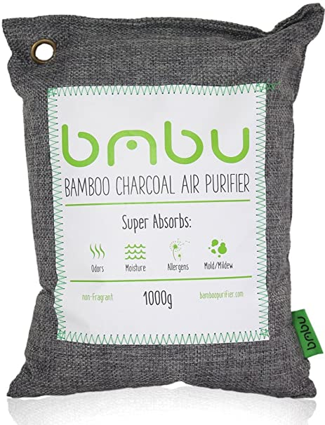 1000g Large Bamboo Charcoal Air Purifier Bag - Deodorizer and Air Freshener  - Remove Odor and Control Moisture in Your RV, Camper, SUV, Car, Semi