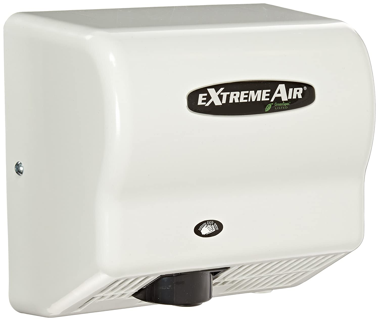 Image of American Dryer ExtremeAir GXT9 ABS Cover High-Speed Automatic Hand Dryer, 10-12 Second Dries, 100-240V, 1,500W Maximum Power, 50/60Hz, White Hand Dryers