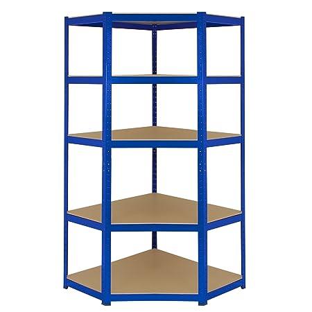 Corner Shelves Garage Racking/90cm X 45cm X 180cm Racking Storage Unit/5  Shelves