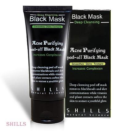 Máscara Facial Negra SHILLS – Máscara Purificante de Carbón Activado Peel Off 50ml – Producto Genuino