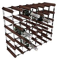 RTA Porta-bottiglie di vino, 36 posizioni, in acciaio/mogano, marrone