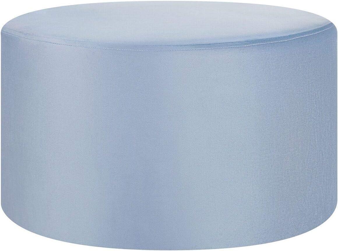 Pouf in Velluto Color Azzurro Millen