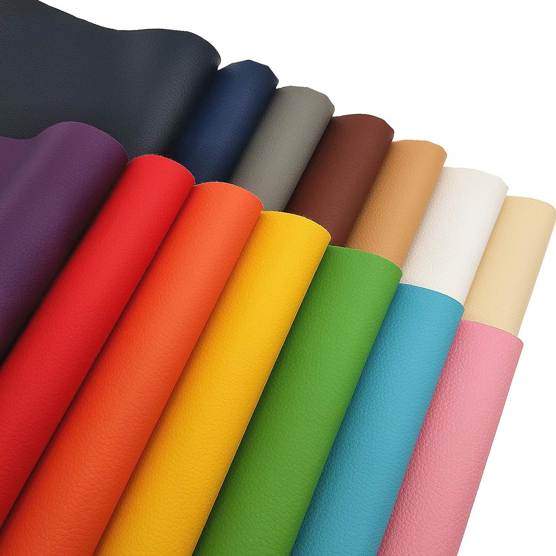 A4\uff088*12\u201c\uff09Colorful litchi Softy faux leather fabric sheets,solid leather sheet-printed faux leather sheet synthetic leather for DIY earrings