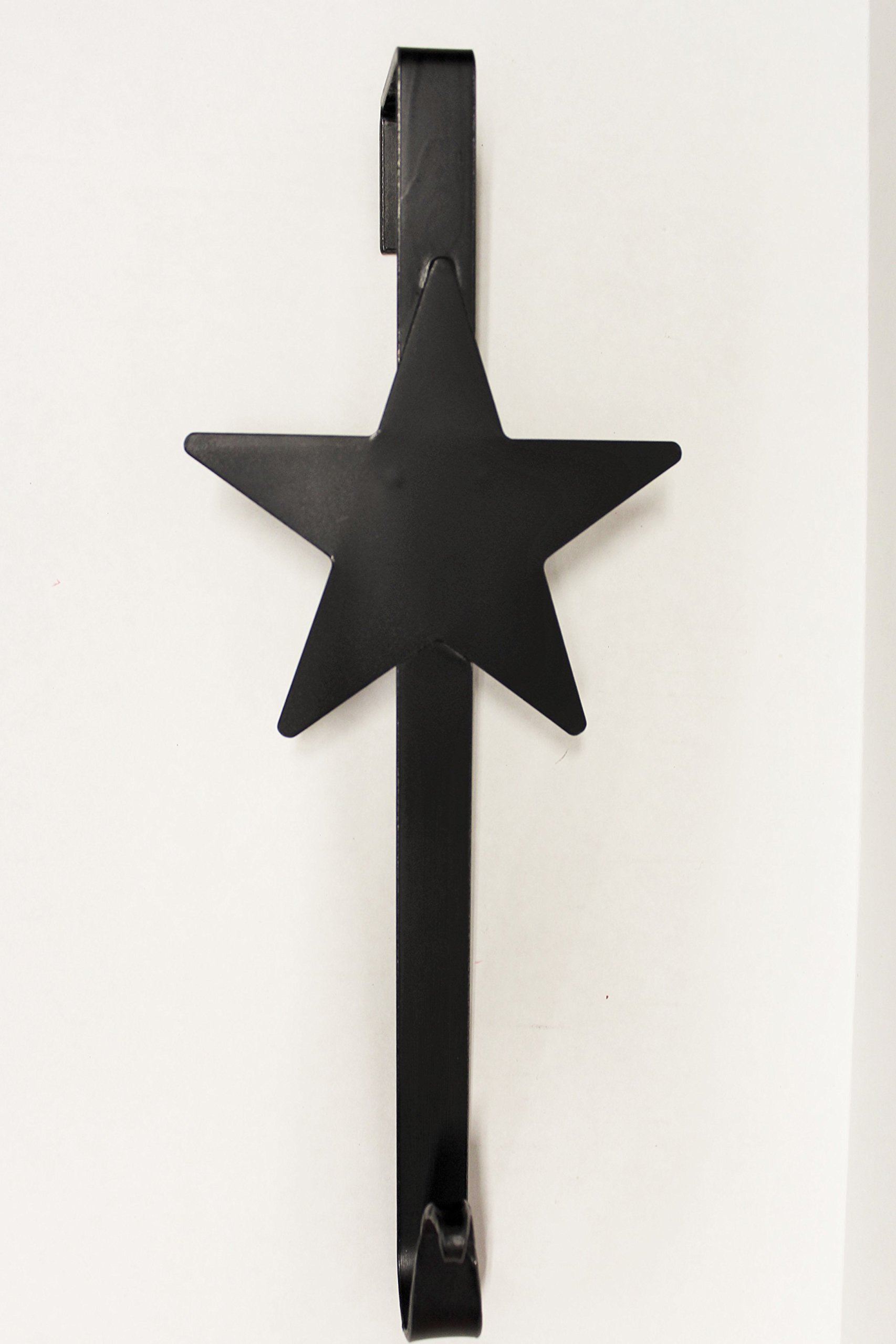 Wrought Iron Star Wreath Hanger - Hand Made By Amish by Hand Crafted & American Made!