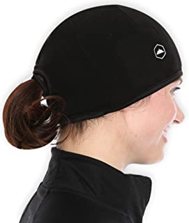 Tough Headwear Helmet Liner Skull Cap Beanie with Ear Covers - Ultimate Thermal Retention and Performance Moisture Wicking. Perfect for Running