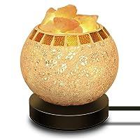 Deals on COOWOO Himalayan Salt Lamp Glass Bowl with Wood Base