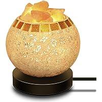 COOWOO Himalayan Salt Masked Bowl Lamp (Stars & Moon)