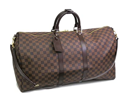 d7bc3a9f23e7 Image Unavailable. Image not available for. Color  Louis Vuitton Keepall  Bandouliere 55 Damier Ebene