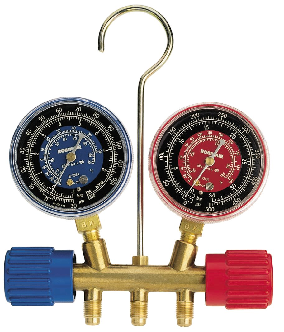 Robinair 40152 Side-Wheel Manifold Gauge with 1/4' Fittings SPXSF