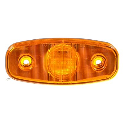 Truck-Lite 26250Y Marker Clearance Light (26 Series, LED, Yellow Rectangular, 3 Diode, , P2, 2 Screw, Hardwired, .180 Bullet Terminal, 12V): Automotive