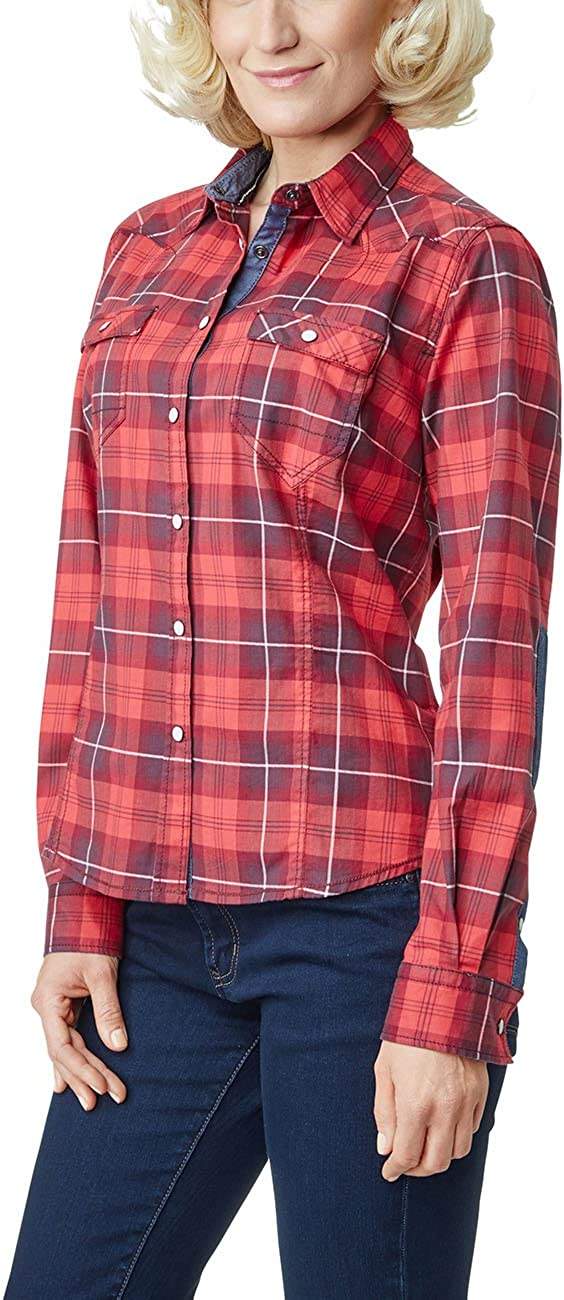 Pioneer Women's Blouse Red (Red Check 9603)
