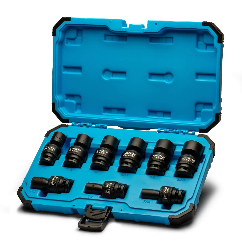 Capri Tools 1/2 in. Drive Universal Impact Socket Set, 7/16-15/16 in. SAE, 9-Piece by Capri Tools