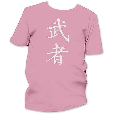 Warrior Chinese Symbol White Kids Fine Jersey T Shirt Pink 8 9