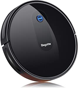 """Robot Vacuum, Max Suction Robotic Vacuum Cleaners, 2.7"""" Super Thin & Powerful battery life With Large Dust Bin, Daily Schedule, Self-Charging Vacuums, Ideal for Pet Hair, Carpet, Hardwood Floors"""