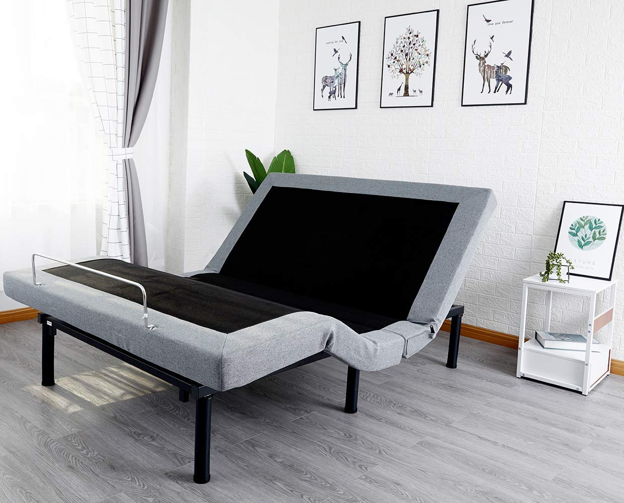 Comsuit Adjustable Bed Frame Base | Wireless Remote | Head and Foot Incline | Massage | USB Charge | Under-Bed Lighting | Zero Gravity | No Tools Required Assembly (Queen)