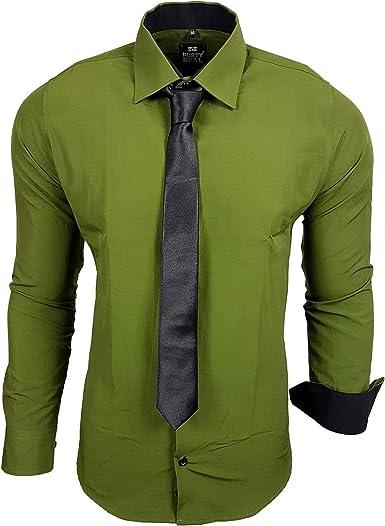 Rusty Neal B5099 – Camisa Business Boda con Corbata S hasta 6 x l: Amazon.es: Ropa y accesorios
