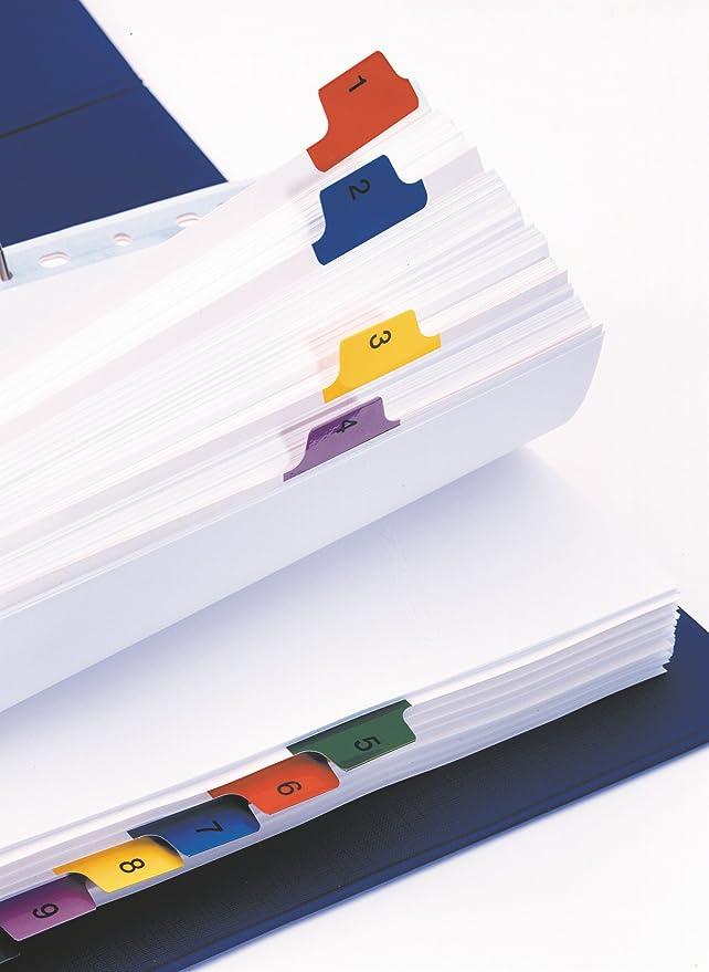 Esselte Mylar- Separadores para archivador (A4, divisiones 1-10), multicolor: Amazon.es: Oficina y papelería