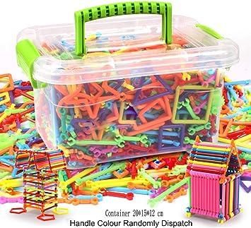 370 Stück Kreative Bausteine und Stecker Magic Sticks Set Kids Toy