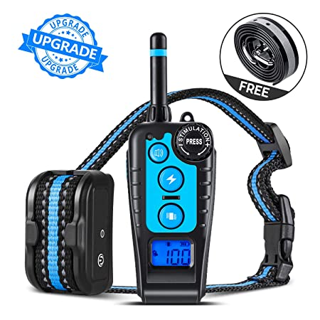 GLOUE Dog Training Collar,1640FT Remote Shock Collar for Dogs,Waterproof and Rechargeable,Beep Vibration Shock w 3 Training Modes for Small Medium Large Dogs