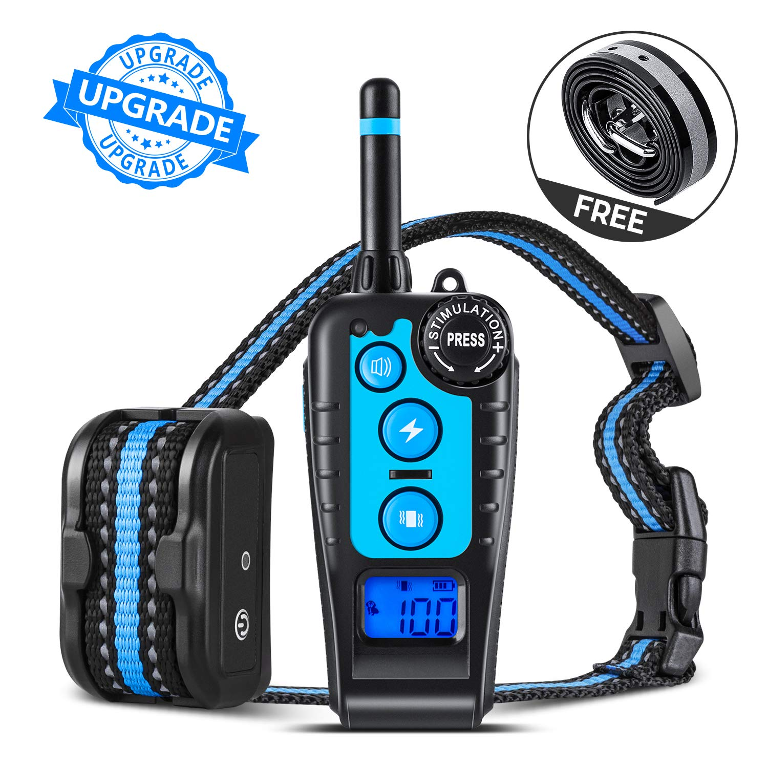GLOUE Dog Training Collar,1640FT Remote Shock Collar for Dogs,Waterproof and Rechargeable,Beep/Vibration/Shock w/3 Training Modes for Small Medium Large Dogs by GLOUE (Image #1)