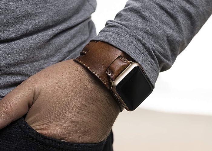80301f11b Cuff Apple watch Band 38mm Women, Cuff Watch Band 42mm Men, Leather cuff  apple