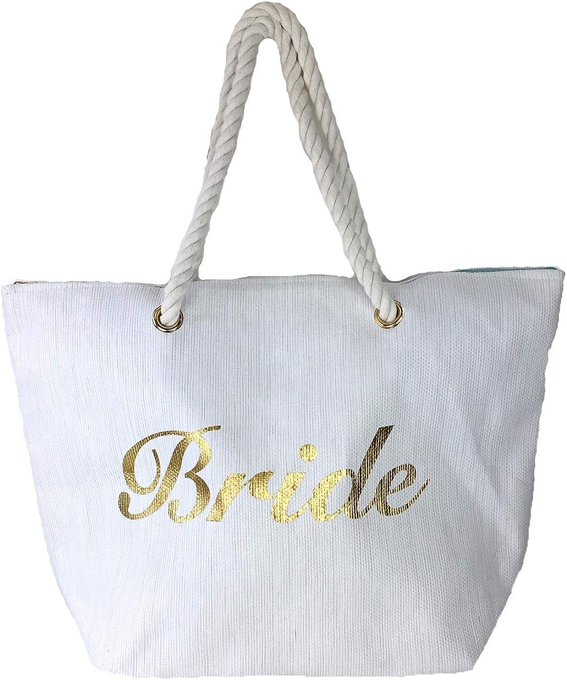 Magid Bride Beach Bag Packable Large Tote White