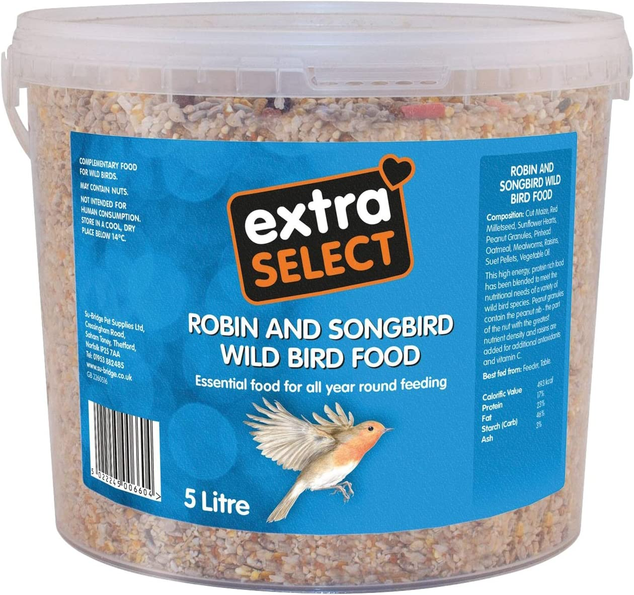 12.75 kg Extra Select Robin and Songbird Feed Mix