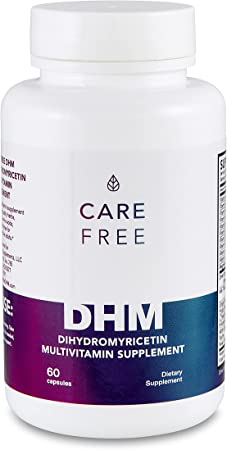 Carefree DHM Recovery Pills | Dihydromyricetin 600mg & Multivitamin (60 Pills) Celebration Recovery & Liver Detox | Milk Thistle, Vitamin B Complex, Amino Acids, Electrolytes, Prickly Pear & More