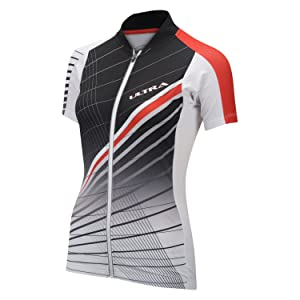 Performance Women's Ultra Short Sleeve Jersey - 2017 LARGE WHITE/RED/BLACK
