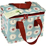 dotcomgiftshop Insulated Lunch Bag - Choice Of Floral Design (Blue Vintage Doily)