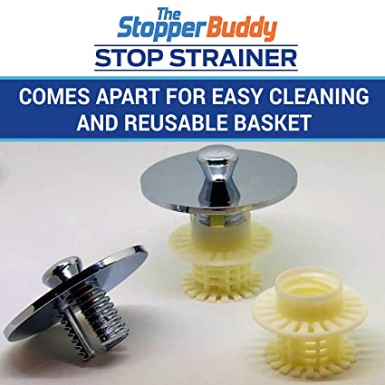 The Stopper Buddy Bathtub Drain Hair Catcher Laundry Sink Drain Lint  Strainer Drain Protector Hair Strainer