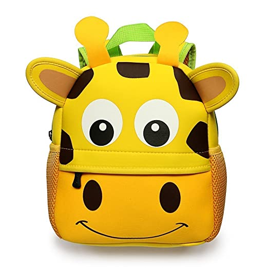 Toddler Backpack Baby Kindergarten Preschool Bags Kids Lunch Bag Cute Cartoon Backpacks for 1-6 Years OldGiraffe